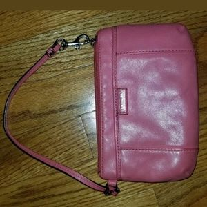 Coach Wristlet Coral/Peach Color